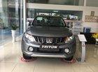 Mitsubishi Triton tự động 1 cầu màu xám, nhập khẩu nguyên chiếc, 586 triệu xe giao ngay tại Đà Nẵng