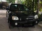 Bán Hyundai Santa Fe đời 2002, số tự động, máy dầu, xe nhập khẩu, màu đen, đã đi 187000 km