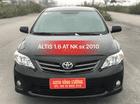 Bán Toyota Corolla 1.6 XLI năm sản xuất 2010, màu đen, nhập khẩu
