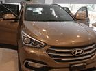 Cần bán lại xe Hyundai Santa Fe 2.4L full xăng 2017 màu nâu, 1 tỷ 090 triệu