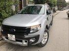 Bán Ford Ranger Wildtrak 3.2 đời 2015, màu bạc, nhập khẩu