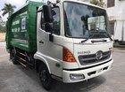 Bán ô tô chở rác_cuốn ép rác 9 khối Hino thùng inox 430
