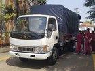 Xe tải Isuzu-JAC 2.4 tấn, động cơ Isuzu, thùng dài 4.4 mét cabin điều hòa, kính điện