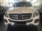 Bán Mercedes GLE400 Exclusive 2017 màu trắng, nội thất nâu, nhập khẩu 100%. LH: 0903 333 580