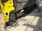 Cần bán xe tải Dongfeng Hoanghuy 3 chân cầu thật, đời 2014, tải 13T có chiều cao, giàn lốp mới