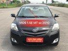 Bán xe Toyota Vios 1.5E MT đời 2010, màu đen