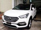 Bán Hyundai Santa Fe full dầu 4W đời 2017, màu trắng