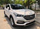 Cần bán gấp Hyundai Santa Fe 2.2AT đời 2017, màu trắng