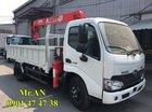 LH: 0901 47 47 38 - Xe tải cẩu Hino 2 tấn, thùng 3.4m, cẩu Unic mới 100%