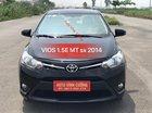 Bán Toyota Vios 1.5E MT đời 2014, màu đen