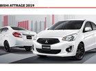 [HOT] Mitsubishi Attrage đời 2019, màu trắng, nhập khẩu nguyên chiếc, giá chỉ 375 triệu