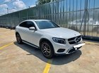 Bán xe Mercedes GLC300 Coupe trắng, nội thất nâu 2018 siêu lướt. Có hỗ trợ trả góp ưu đãi