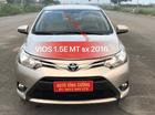 Cần bán xe Toyota Vios 1.5E MT năm 2016, màu vàng
