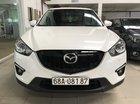 Bán Mazda CX5 2.0AT màu trắng, sản xuất 2015 đi 59000km xe đẹp