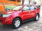 Cần bán xe Toyota Fortuner 2.7V đời 2010, màu đỏ, máy xăng