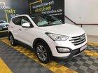 Bán Hyundai Santafe 4WD 2.4AT màu trắng camay, máy xăng, bản full 2 cầu, số tự động sản xuất 2015