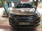 Chính chủ bán lại xe Hyundai Santa Fe năm 2017, màu nâu