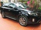 Bán chiếc xe Kia Sorento màu đen, máy dầu bản full cao