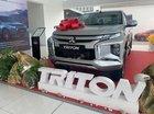 Bán Mitsubishi Triton 4x2 AT đời 2018, màu bạc, xe nhập