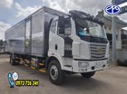 Bán xe tải FAW 8 tấn thùng kín dài 9m7 - Trả trước 300 triệu có xe