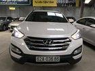Bán Hyundai SantaFe 2.4AT màu trắng, máy xăng, số tự động, sản xuất 2014, 7 chỗ