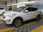 Bán xe Hyundai Santa Fe 2.4AT 4WD năm sản xuất 2015, màu trắng, giá chỉ 846 triệu