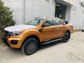 Bán Ford Ranger Wildtrak Biturbo 2021, màu cam, xe mới, giá siêu khuyến mại, giao ngay
