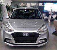 Bán Hyundai Grand i10 năm sản xuất 2020, màu bạc giá cạnh tranh