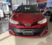 Toyota Vios 1.5E MT 2020 màu đỏ, phiên bản số sàn nội thất đen hoàn toàn mới, trả trước chỉ từ 160 triệu