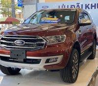 Bán Ford Everest Titanium 2.0L AT sản xuất 2020, màu đỏ, nhập khẩu nguyên chiếc, giao nhanh