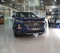 Bán Hyundai Santa Fe 2.4L sản xuất 2020, màu xanh lam, giao xe nhanh, miễn phí toàn quốc