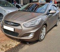Cần bán Hyundai Accent 1.4 MT đời 2014, màu nâu, xe nhập