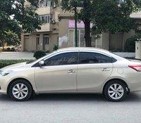 Chú Xuân cần bán Toyota Vios E sản xuất 2014, màu cát vàng chính chủ biển Hà Nội