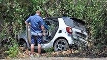 Smart Cabrio mới xảy ra tai nạn khi đang chạy thử