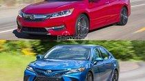 So sánh xe Toyota Camry 2018 và Honda Accord 2017: Accord hụt hơi?