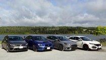 Honda Civic Type R, Subaru WRX STI, Ford Focus RS và VW Golf R: Chọn sedan hiệu năng nào?