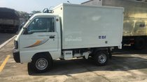 Bán xe tải Thaco 850 kg thùng kín tôn đen, nhỏ gọn, chạy trong hẻm nhỏ