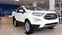 Bán Ford EcoSport Trend AT sản xuất năm 2018, màu trắng, giá chỉ từ 570 triệu