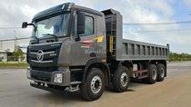 Liên hệ 096.96.44.128 cần bán xe ben 4 chân xác nặng, full option Thaco Auman D300GTL sản xuất 2018, màu xám