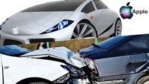 Xe tự lái thử nghiệm của Apple bị Nissan Leaf 2016 đâm trúng từ phía sau