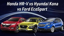 So sánh thông số Hyundai Kona, Honda HR-V và Ford EcoSport bản cao cấp nhất