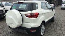 Cần bán Ford EcoSport Titanium 1.5L AT 2018, màu trắng, xe sẵn, mới 100%, tặng gói phụ kiện hấp hẫn, vay 90% giá xe