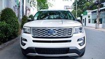 Bán Ford Explorer 2.3L Ecoboost Limited, Sx 2018, màu trắng, xe cực đẹp - LH 0989022295