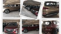Lô xe Hyundai Santa Fe 2019 mới về đầy bãi, chuẩn bị giao đến tay khách hàng