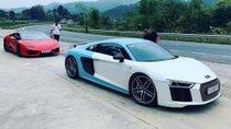 Cường 'Đô-la' đi hỏi vợ với bộ đôi siêu xe Audi R8 Plus và Lamborghini Huracan LP580-2