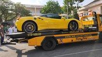 Bắt gặp Ferrari 488 GTB màu vàng của đại gia Bình Dương đi đăng kí biển