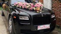 Chơi trội, đám cưới Nghệ An dùng Rolls-Royce Ghost màu đen độc đáo rước dâu
