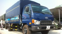 Bán xe Hyundai HD800 tải trọng 8 tấn, thùng dài 5m1 năm 2017, màu xanh lam