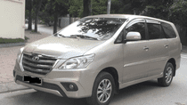 Toyota Innova E năm sản xuất 2016, màu vàng cát, 530tr, liên hệ 0968100770