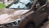 Bán Hyundai Santa Fe sản xuất năm 2017, màu nâu